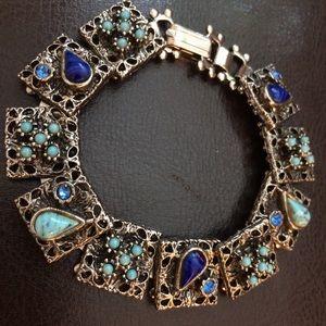 Vintage Bracelet with Natural Stones